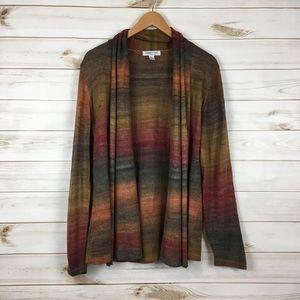✨SOLD✨Gradient marled multicolor cardigan
